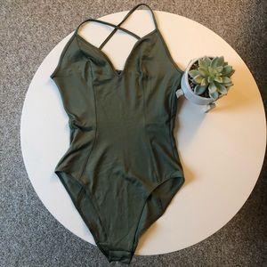 Tops - Green Bodysuit